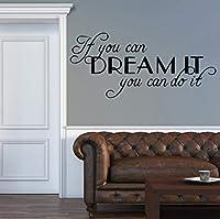 Ansyny やる気を起こさせる文章壁用ステッカーウォールステッカー用寝室用リビングルーム装飾ビニール取り外し可能なステッカー壁画壁の装飾66 * 30センチ