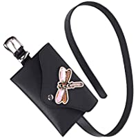 Baoblaze Women's Punk Black Leather Fanny Pack Belt Bag Purse Adjustable Strap