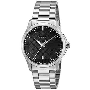 [グッチ]GUCCI 腕時計 Gタイムレス ブラック文字盤 YA126457 メンズ 【並行輸入品】