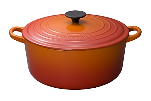 RoomClip商品情報 - ルクルーゼ ココット ロンド ホーロー 鍋 IH 対応 26cm オレンジ 2501-26-09