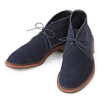 Unlined Chukka Boot: Navy Suede