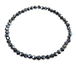 ROYAL JEWELRY(ロイヤルジュエリー) スワロフスキー(R) クリスタル 4mmブラックダイヤカラー ブレスレット