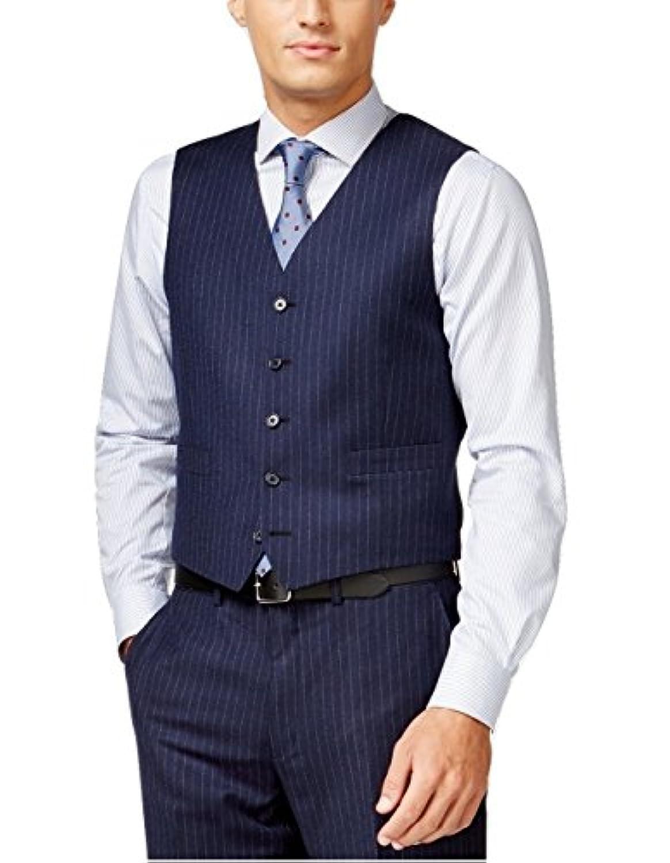 Ryan Seacrest Distinctionブルーストライプ2つボタン新しいメンズドレスベスト