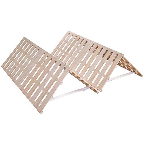 タンスのゲン すのこマット セミダブル ~セミダブルロング対応 折りたたみ ベッド 四つ折りタイプ 天然桐 完成品 風-kaze- 1761000501 【48899】