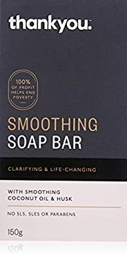 Thankyou Smoothing Soap Bar with Coconut Oil & Husk, 150g