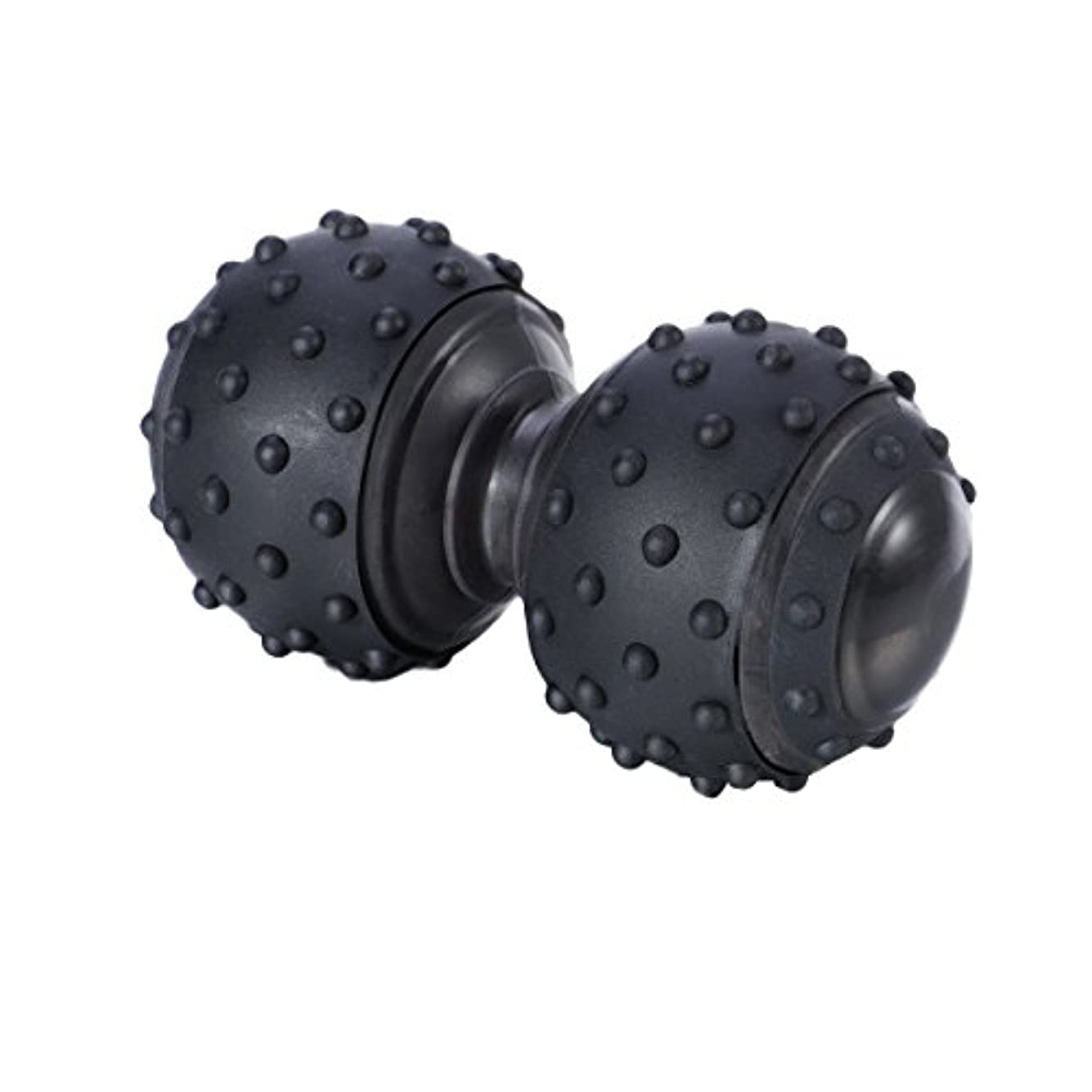 摂氏ペフテクトニックROSENICE 治療ボール 体の緊張と筋肉の痛みを和らげる シリコンマッサージボール(ブラック)
