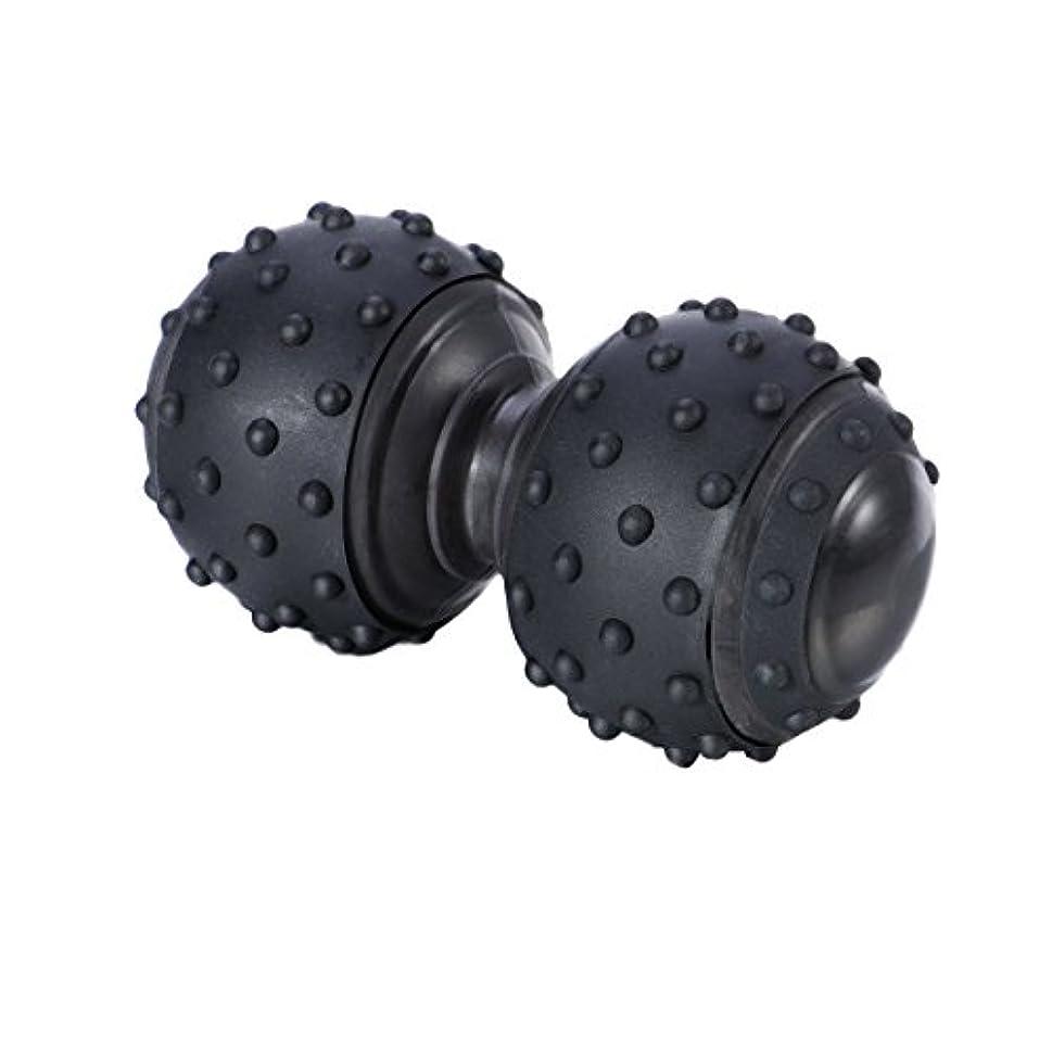 組み込むクリップ違反ROSENICE 治療ボール 体の緊張と筋肉の痛みを和らげる シリコンマッサージボール(ブラック)