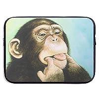 パソコン ラップトップスリーブ チンパンジー猿プリント 防水 ネオプレン PC プロテクターバッグ インナーケース カバー ASUS Lenovo MacBook Mac Air Pro タブレット 用 15 Inch