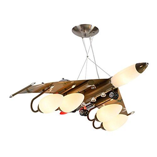 航空機のシャンデリア、子供部屋のシャンデリア男の子と女の子寝室の照明は、アイロンシャンデリアのリビングルームのルームライトE14多くのヘッド ( サイズ さいず : A )