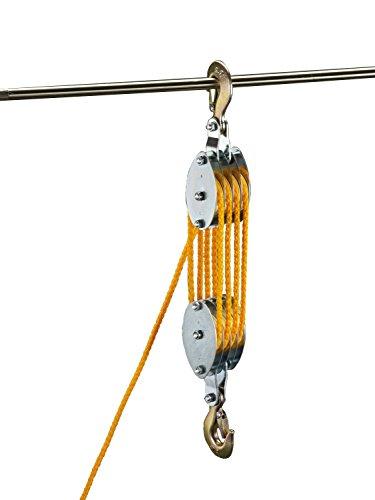 ESCO (エスコ)200kg ロープホイスト(φ7mmx20mロープ付) EA987CH-10