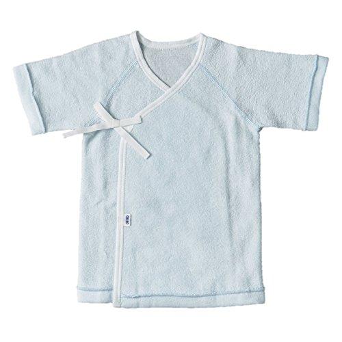 f92bb7b4f830b CELEC(セレク) 短肌着 新生児 日本製 ベビー 肌着 50cm ブルー 無撚糸パイル 出産準備  105010  新生児 の肌はデリケートなので肌の乾燥やムレを防ぐために肌着を着せ ...