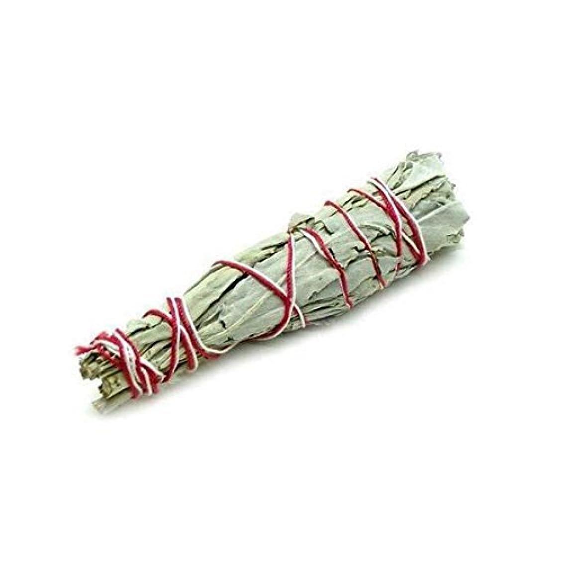 制限記者粘着性セージバンドル – ホワイトセージSmudge Stick使用のクレンジングとPurifyingエネルギー、瞑想、自然として、消臭 – 6 Inches Long