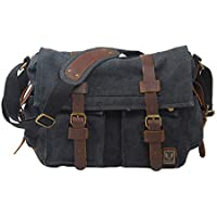 VRIKOO Vintage Military Canvas Messenger Bags Casual Satchel Shoulder Bag