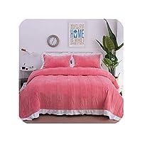フリース寝具セットベッドカバー掛け布団ブランケットセット冬暖かいベッドカバー寝具枕ジュエゴデカマリンジドゥリット、寝具セット5、クイーンサイズ4個