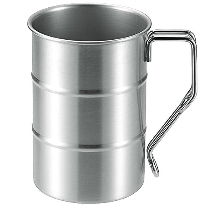 デュアルぴかぴか程度ナガオ ドラム缶マグカップ 18-8ステンレス 日本製
