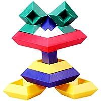 Changeableピラミッド15pcs子供玩具パズルビルディングブロック