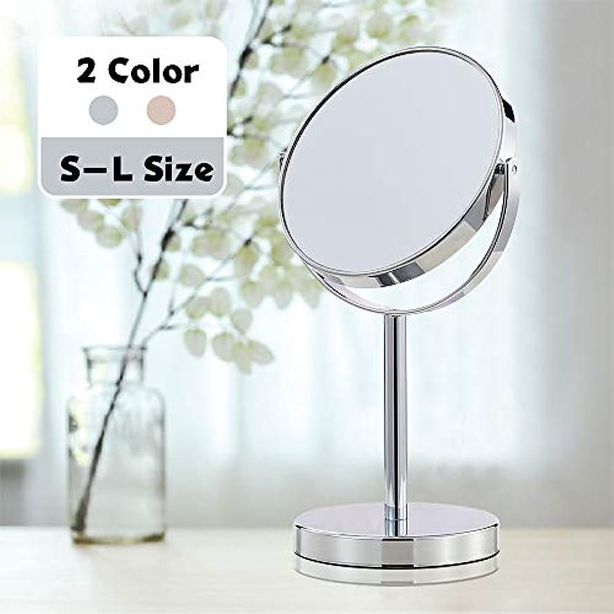 食欲なので見える(セーディコ) Cerdeco シンプルデザイン 真実の両面鏡DX 5倍拡大鏡 360度回転 卓上鏡 スタンドミラー メイク 化粧道具 鏡面148mmΦ J622