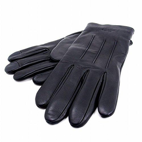 コーチ メンズ グローブ 手袋 レザー カシミヤ混 54182 M ブラック [アウトレット品] [並行輸入品]