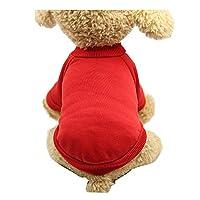 ペット猫犬服コスチュームニット子猫子犬ジャンパーセーターコスチューム犬スウェットシャツ、スタイリッシュな居心地の良いハロウィーンを身に着けている愛らしいハロウィーン、クリスマス(色:赤#2、サイズ:M)