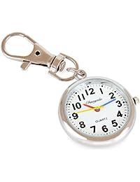 WOLFTEETH ナースウォッチ ポケットウォッチ アンティーク クオーツ 時計 キーリング付 307601