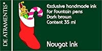 Nougat /ダークブラウンプレミアム万年筆ボトルインクby De Atramentis ®