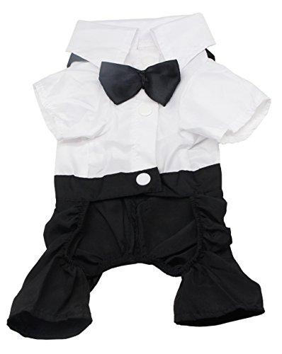 犬の服のペットのスタイリッシュなスーツの蝶ネクタイの衣装、結...