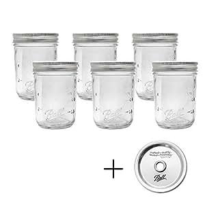BALL 【ボール】Mason Jar メイソンジャー ガラス保存瓶 6本セット (レギュラー240ml)