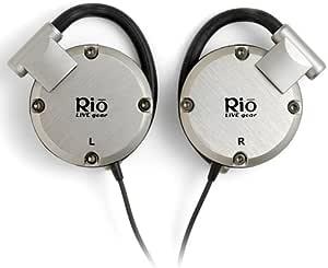 Rio LIVE gear シリコンイヤーフック式ヘッドホン(専用ソフトケース付) チタン [PHP-200T]