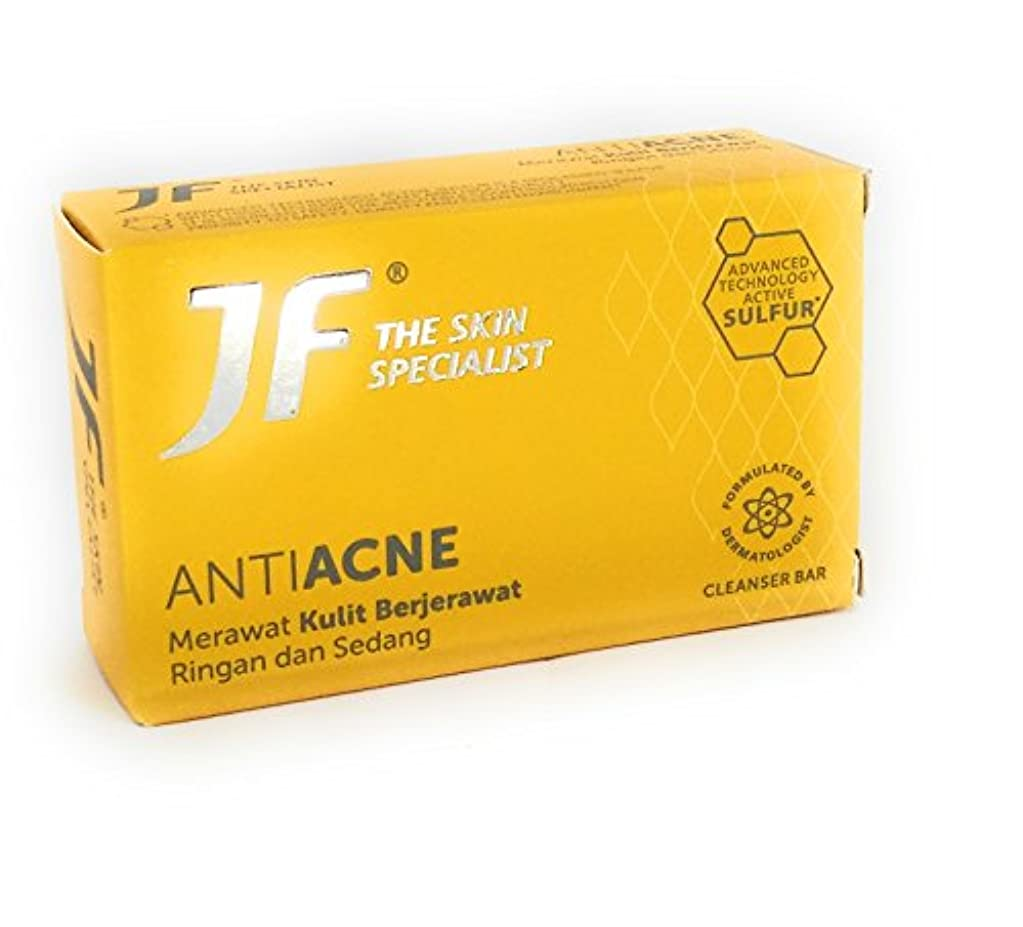 へこみ後退する麦芽JF Sulfur 皮膚科専門医アンチにきびケア石鹸jf、65グラム