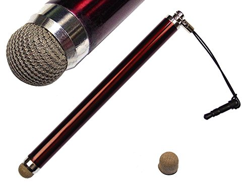 【替えペン先1個付】レッドメタリック 導電繊維 スタイラスペ...