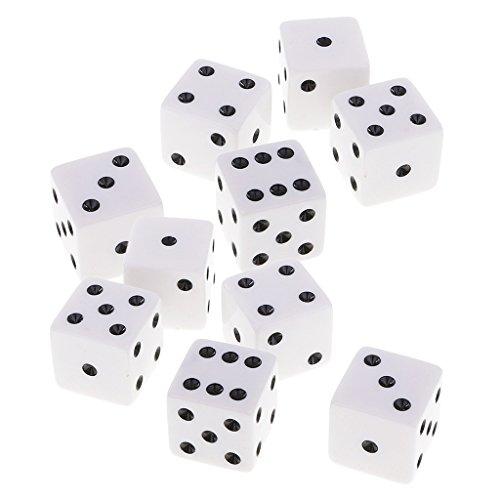 SONONIA 10個 正方形 D6ダイス サイコロ ボードゲーム カジノおもちゃ用