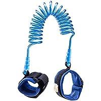 ARAUS 迷子防止ロープ 事故防止 ストラップ おでかけ ベルト 手つなぎ補助帯 安全 セーフティー リード 子供 ベビー 赤ちゃん キッズ お出かけ お散歩 公園 旅行(2.5m) (ブルー)