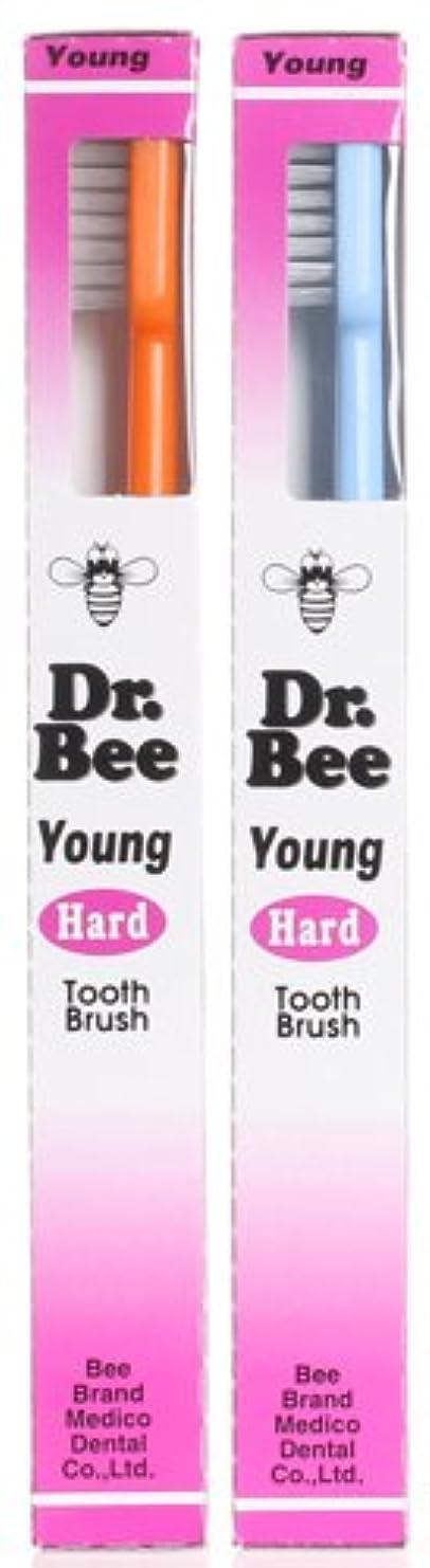 繰り返し難民バナナBeeBrand Dr.BEE 歯ブラシヤング かため 2本セット