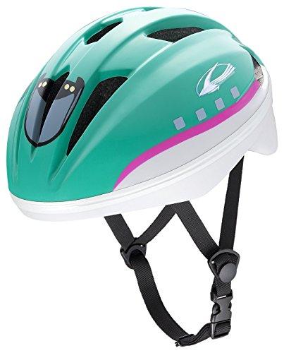アイデス (ides) キッズヘルメット 新幹線E5系はやぶさ 子ども用 キッズ ヘルメット 自転車 幼児車 保育園 幼稚園 入園 子乗せ 同乗器 安心 安全 SG 頭囲 日本人 グリーン S (頭囲 53cm~56cm未満)