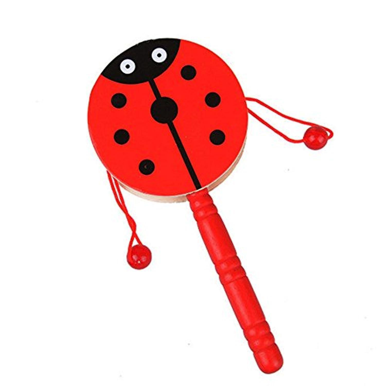 教育玩具、子供baomabao子Wooden RattleペレットドラムCartoon Musical Instrumentおもちゃ
