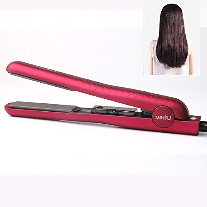 WTYD 美容ヘアツール U330セラミックプレート調節可能な温度ストレートヘアアイロン電気合板理髪ツール髪、euプラグ (色 : Rose Red)