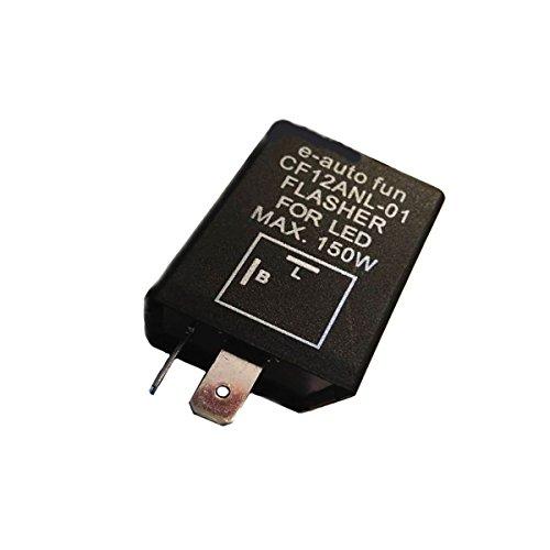 e-auto-fun バイクライト ICウインカーリレー LED対応 省電力 2ピン ハイフラ防止 バイク 旧車に カスタムパーツ オートバイ 二輪 SD-FFLCF12