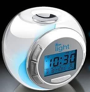 目覚まし時計 イルミネーション機能搭載 7色 レインボークロック 温度モード  LEDライト 日付 曜日モード AF-CLOCK