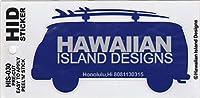 ハワイアン雑貨/ハワイ雑貨 ハワイアン ワーゲンバス ステッカー (C-ディープブルー) 【お土産】