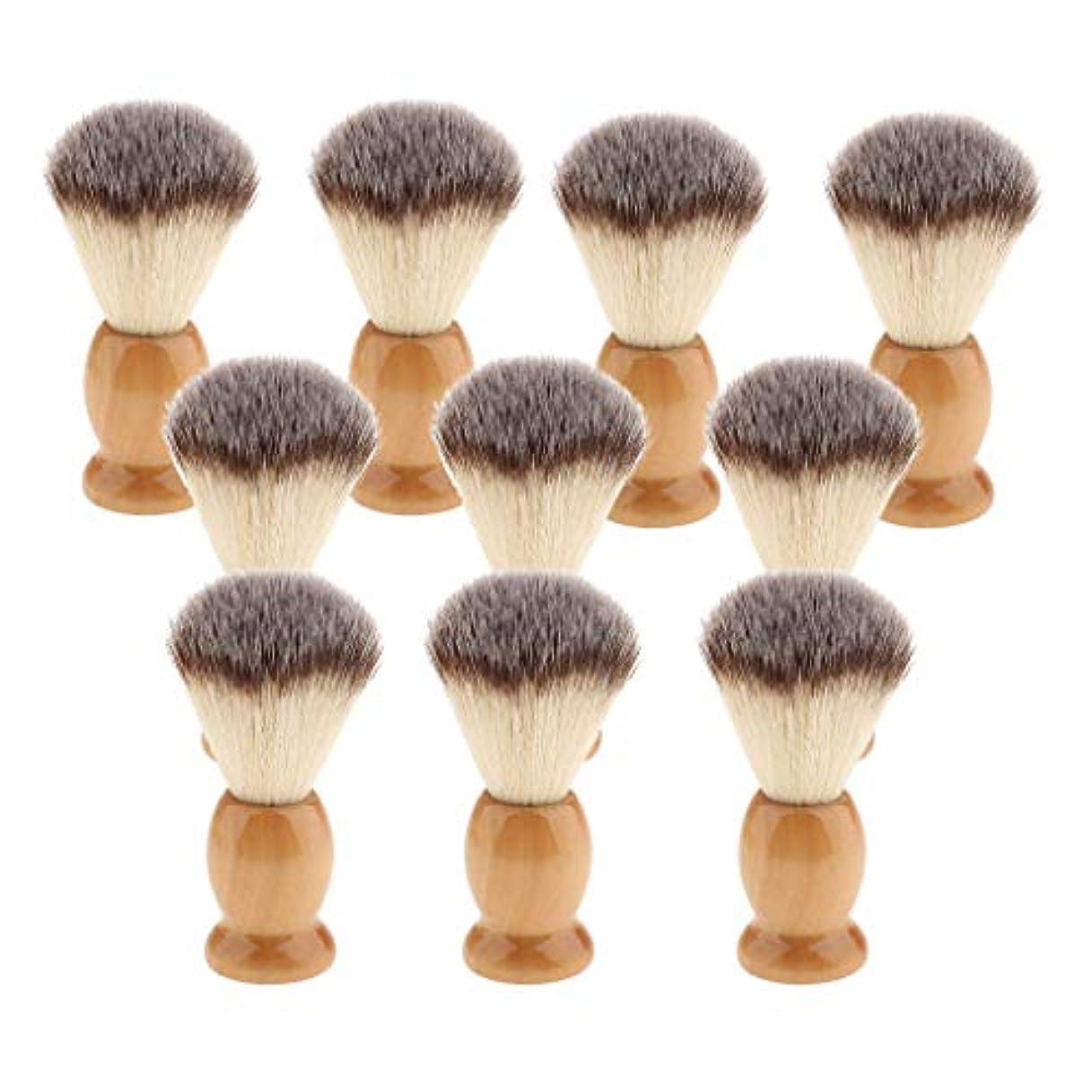 メンバーカウンタ祝福Hellery 10個 シェービングブラシ 男性 ひげ 口ひげ グルーミング シェービングツール 髭剃り
