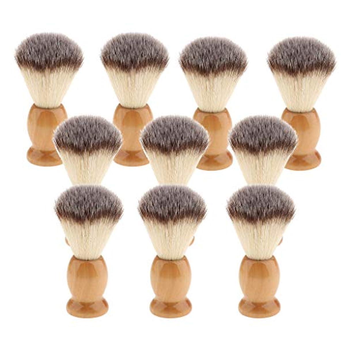 前投薬実り多い不信10個 シェービングブラシ 男性 ひげ 口ひげ グルーミング シェービングツール 髭剃り