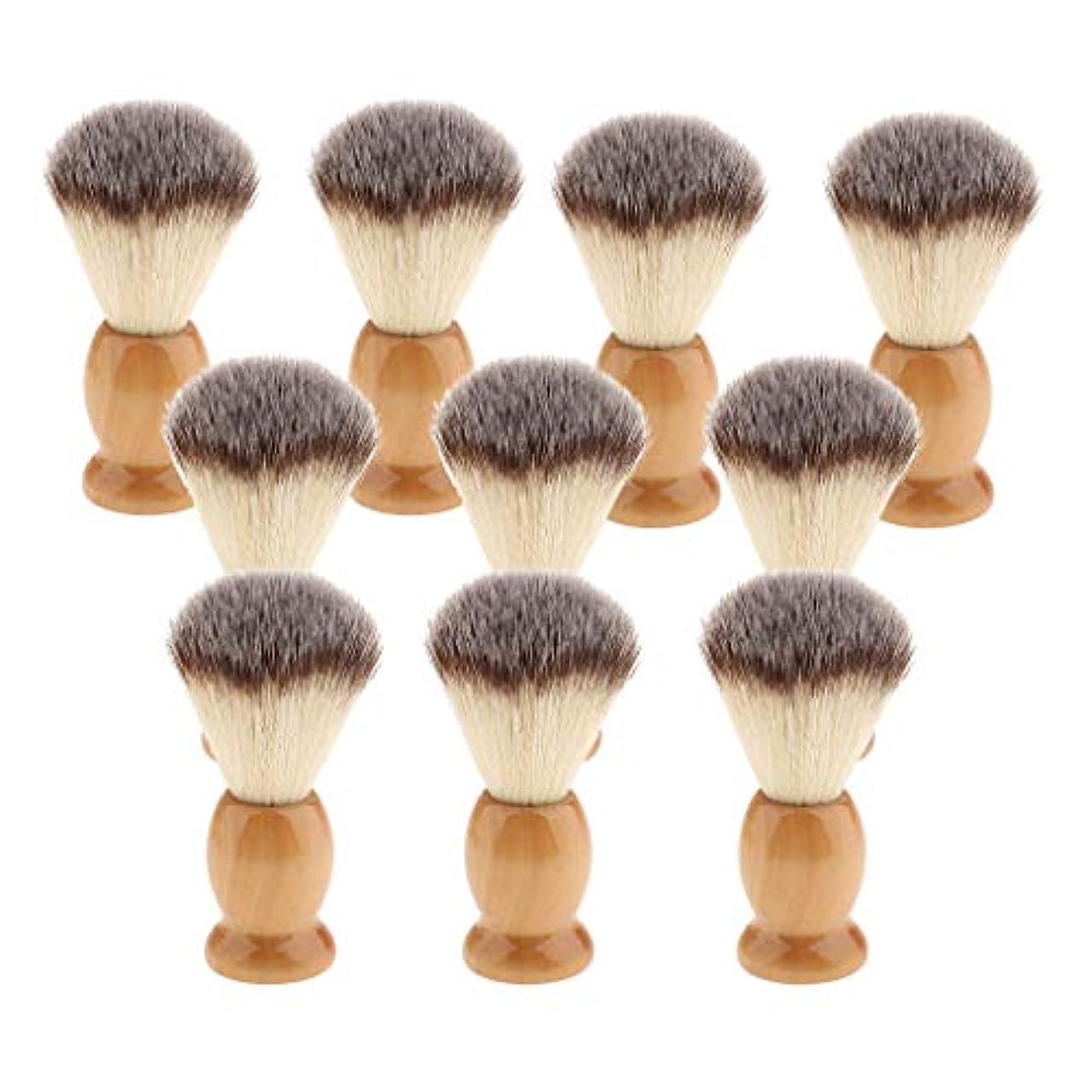 熟すうねるうそつき10個 シェービングブラシ 男性 ひげ 口ひげ グルーミング シェービングツール 髭剃り