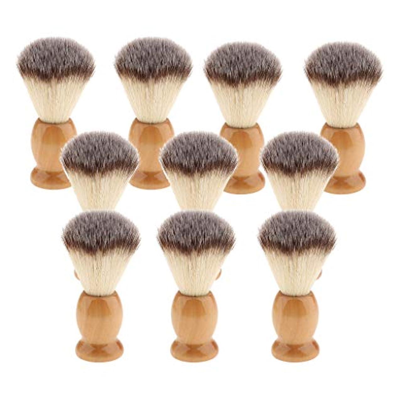 長老前兆採用する10個 シェービングブラシ 男性 ひげ 口ひげ グルーミング シェービングツール 髭剃り