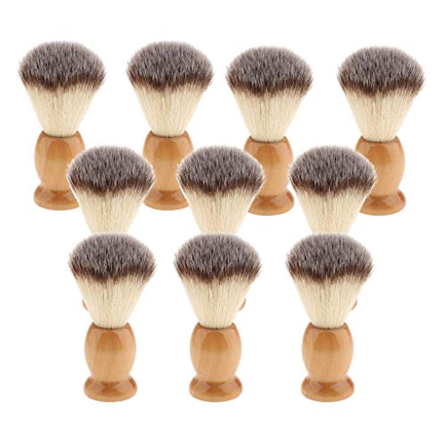 米ドル原告重荷10個 シェービングブラシ 男性 ひげ 口ひげ グルーミング シェービングツール 髭剃り