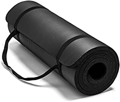 Large & Extra Thick Exercise Mat with Carrying Strap – 12mm Thick Yoga Mat –The Best of Yoga Mats & Exercise Mats on...