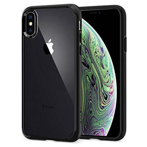 【Spigen】 スマホケース iPhone XS ケース/iPhone X ケース 5.8インチ 対応 背面クリア 耐衝撃 米軍MIL規格取得 ウルトラ・ハイブリッド 057CS22129 (マット・ブラック)