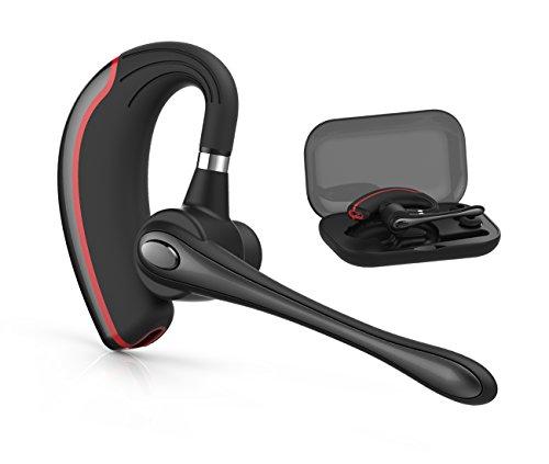 Bluetooth ヘッドセット ワイヤレスブルートゥースヘッドセット 高音質片耳4.1 内蔵マイクBluetoothイヤホン ビジネス 快適装着 ハンズフリー通話 (黒い)