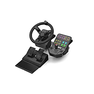 Saitek Farming Simulator Wheel Pedals & Vehicle Side Panel Bundle (SCB432160002/01/1) [並行輸入品]