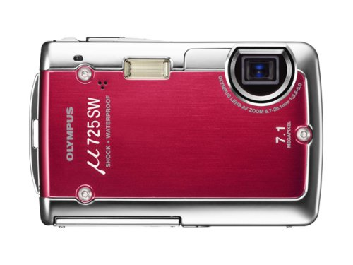 OLYMPUS 防水デジタルカメラ μ725 (ミュー) ワインレッド μ725SW RED