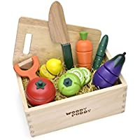 Woody Puddy Vegetable Set in Box By Actus [並行輸入品]